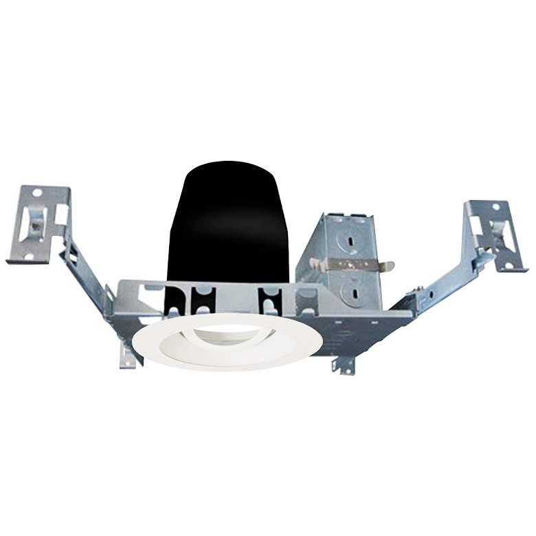 "4"" White 750 Lumen LED Standard Round Gimbal Recessed Kit"