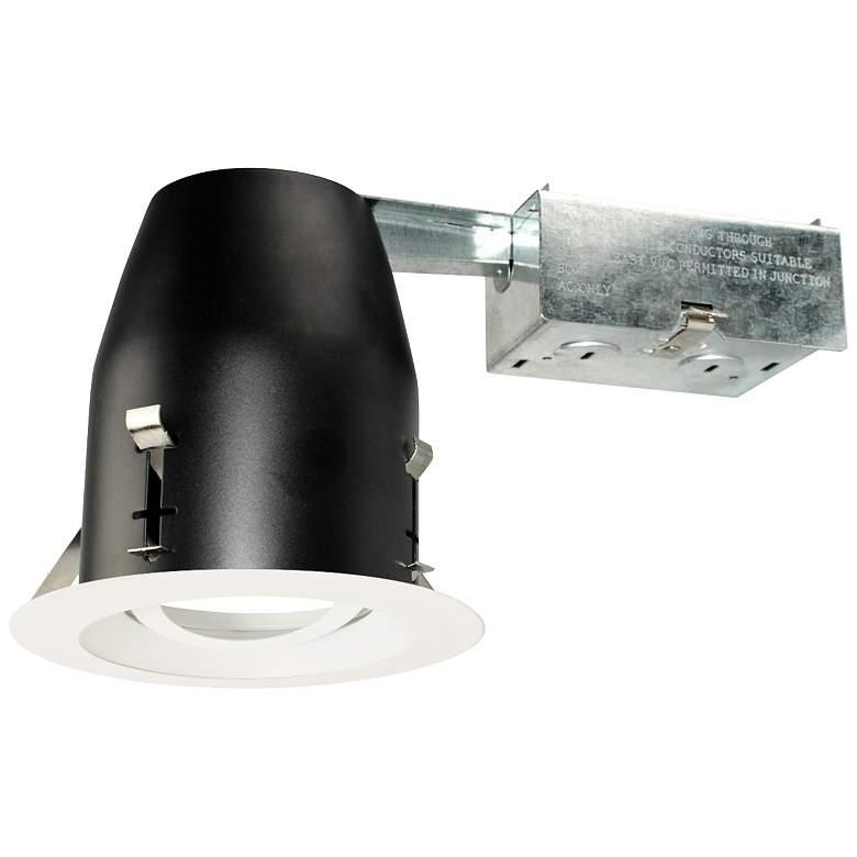 "4"" White 750 Lumen LED Remodel Round Gimbal Recessed Kit"