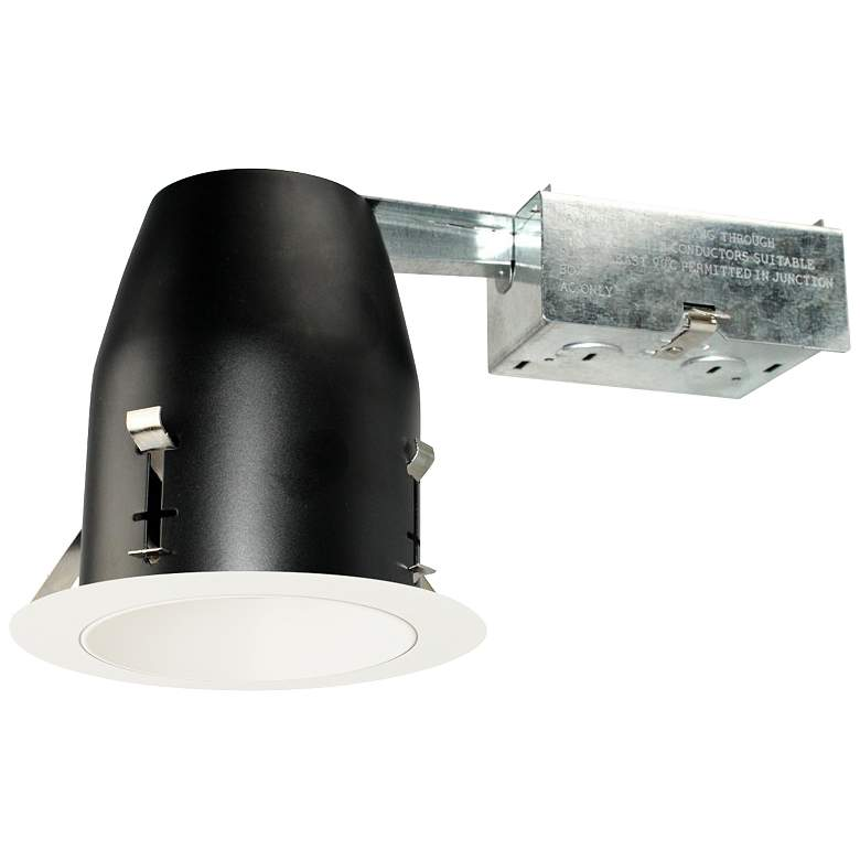 "4"" White 950 Lumen LED Remodel Round Reflector Recessed Kit"