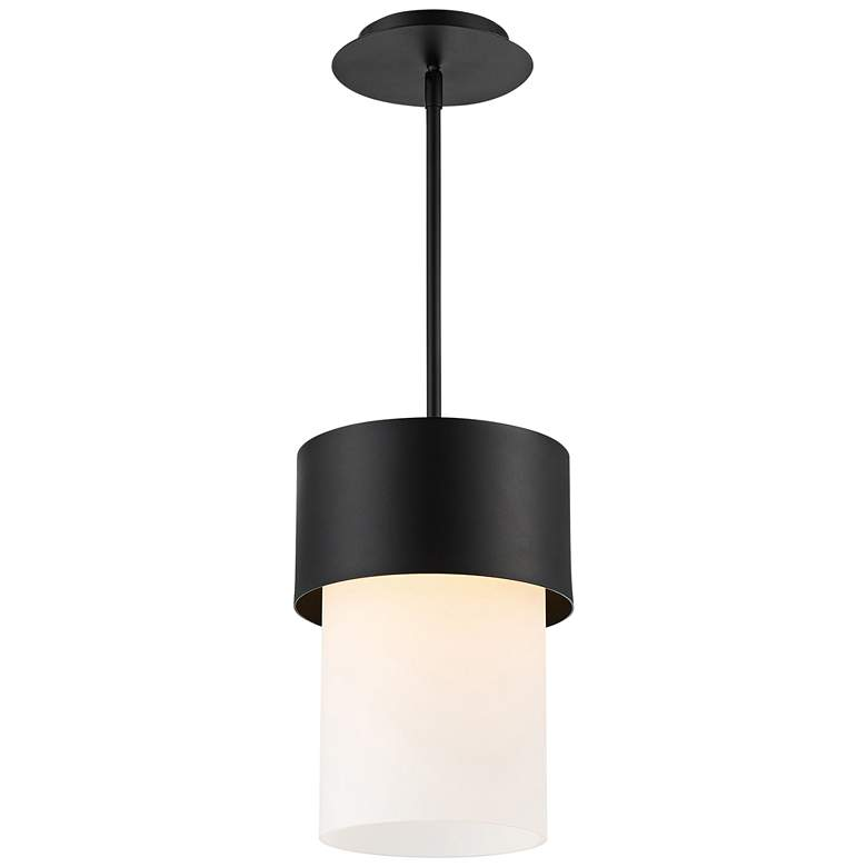 "dweLED Napa 9"" Wide Black and White LED Mini Pendant"