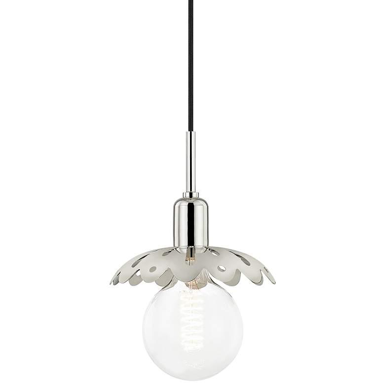 "Mitzi Alyssa 8"" Wide Polished Nickel Mini Pendant Light"