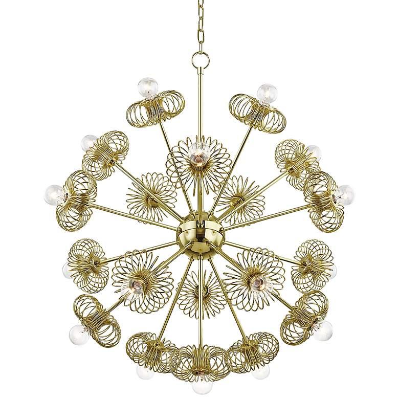 "Mitzi Serena 30"" Wide Polished Brass 19-Light Chandelier"