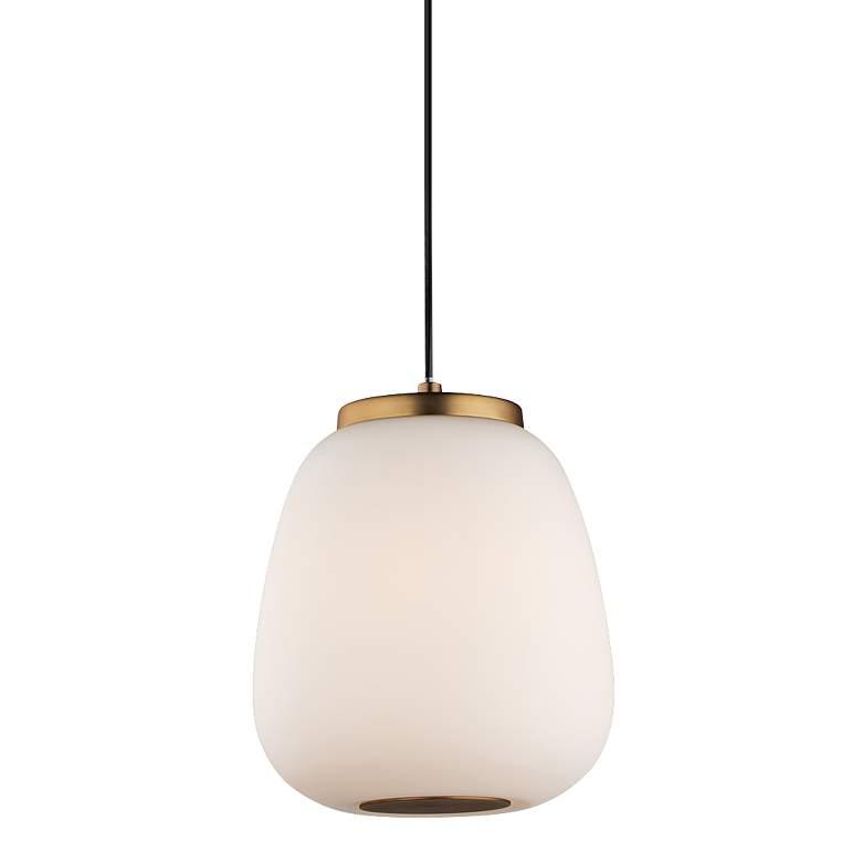 "ET2 Soji 8 3/4"" High Satin White Glass LED Mini Pendant"