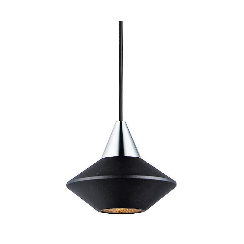 """ET2 Micro 3 1/4"""" Wide Black LED Mini Pendant Light"""