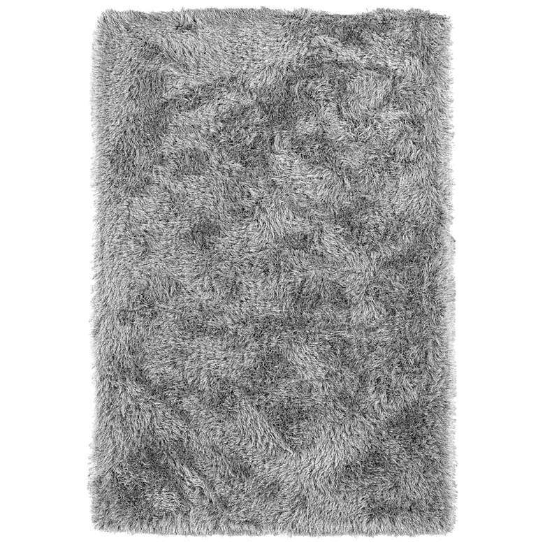 "Dalyn Impact IA100 5'x7'6"" Silver and Gray Shag Area Rug"
