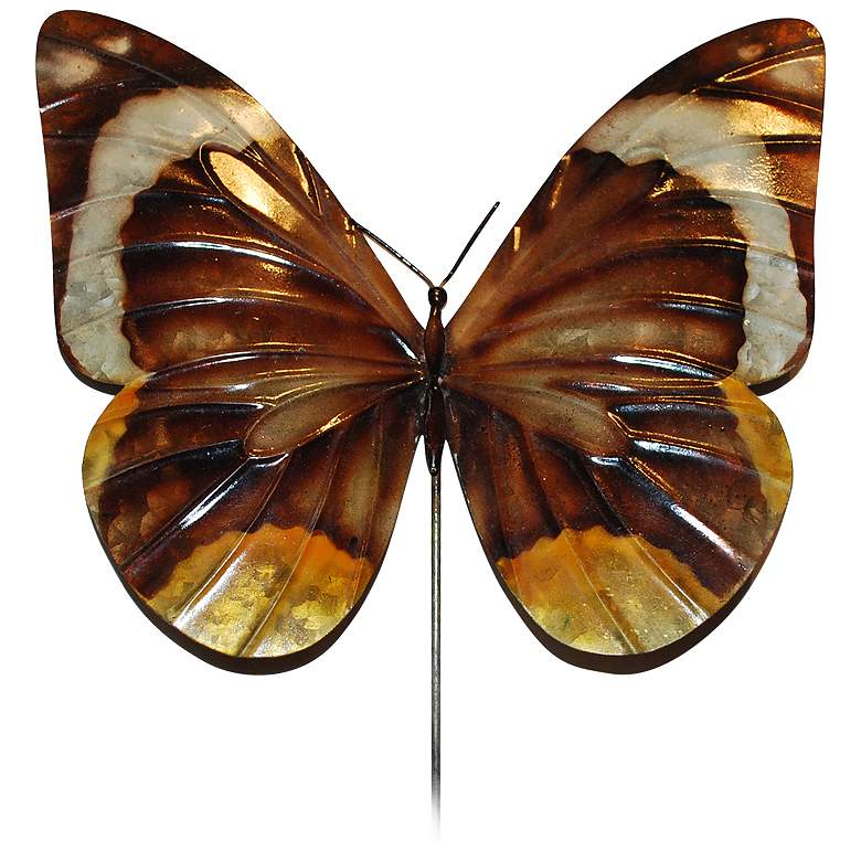 "Eangee Butterfly Brown 24"" High Decorative Garden Stake"