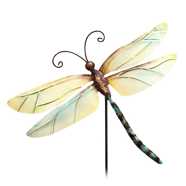 "Eangee Pearl Dragonfly 24"" High Decorative Garden Stake"