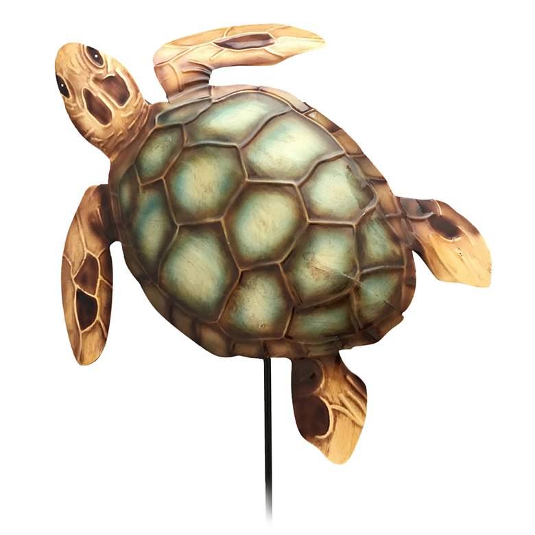 "Eangee Sea Turtle 24"" High Decorative Garden Stake"