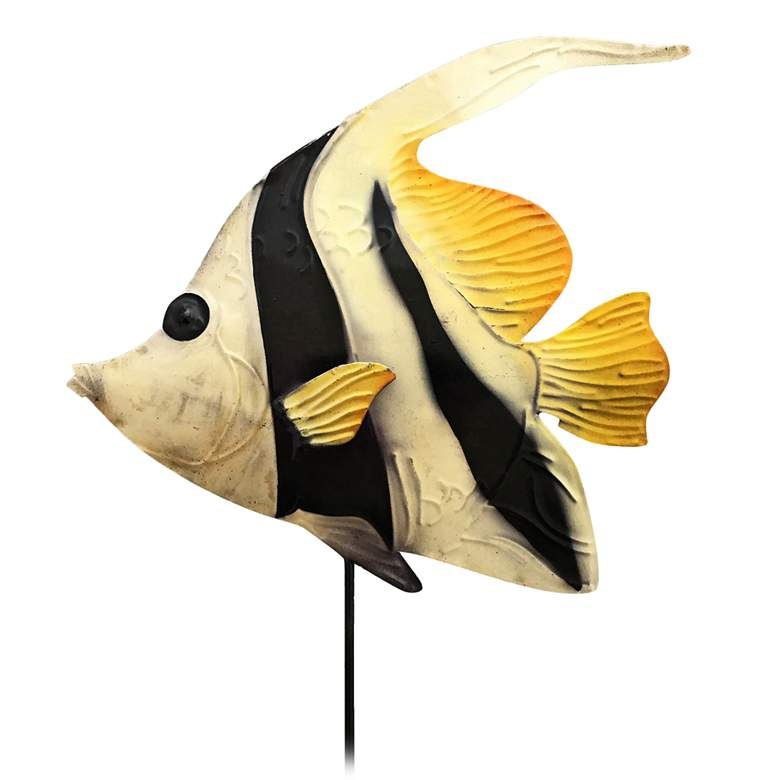 "Eangee Angel Fish 24"" High Decorative Garden Stake"