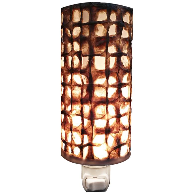 """Eangee Paper 7"""" High Mesh Cylinder Plug-In Night Light"""