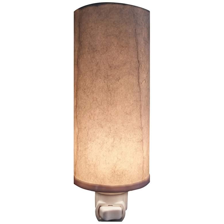 """Eangee Paper 7"""" High Glacier Cylinder Plug-In Night Light"""