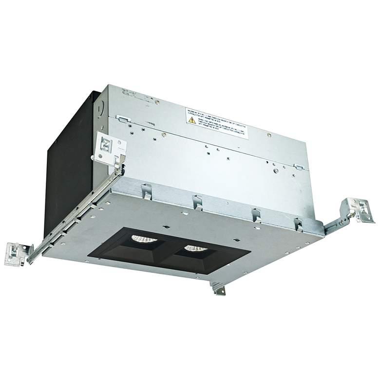 """Iolite 4"""" Black 2-Head 1000 Lumen LED Fixed Recessed Kit"""