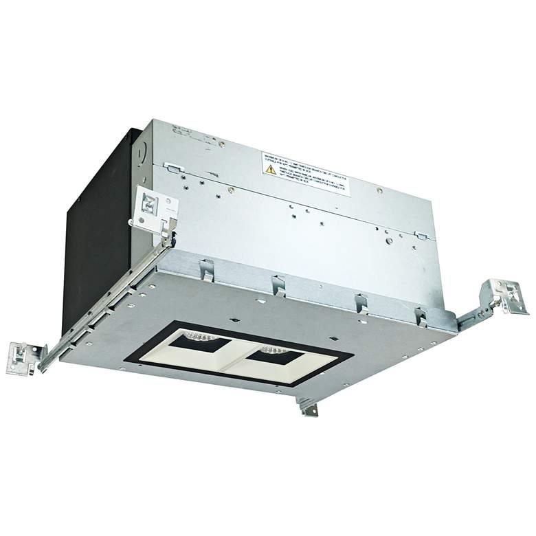 "Iolite 4"" Black/White-Black 2-Head 1000lm LED Recessed Kit"