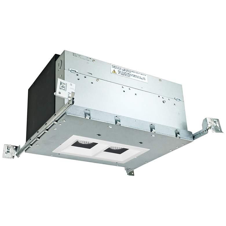 "Iolite 4"" Black/White-White 2-Head 1000lm LED Recessed Kit"