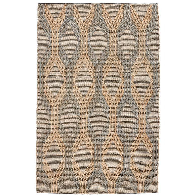 Sylmar 5'x8' Natural and Mineral Blue Jute Area Rug