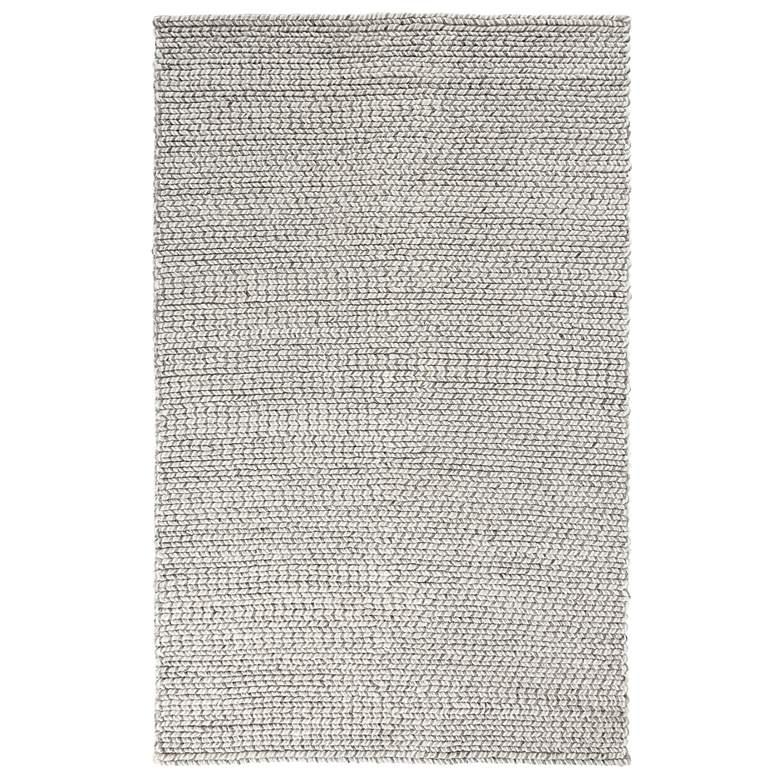 Dawson 5'x8' Gray Rectangular Wool Area Rug