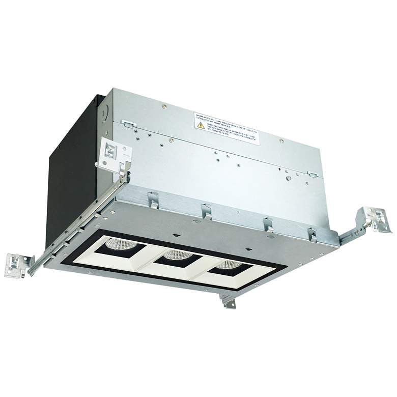 "Iolite 4"" Black/White-Black 3-Head 800lm LED Recessed Kit"