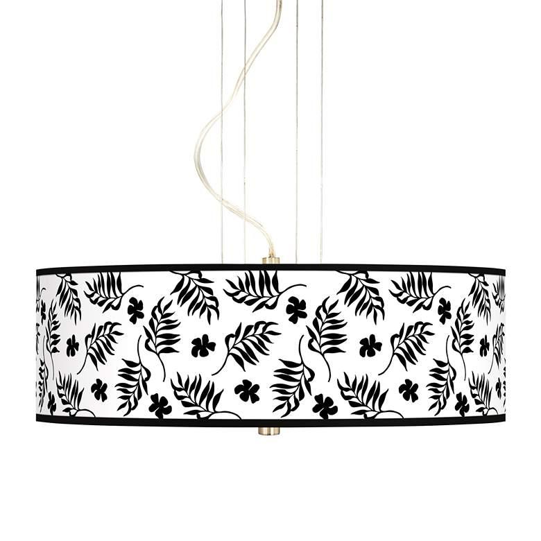 "Floral Fern 20"" Wide 3-Light Pendant Chandelier"