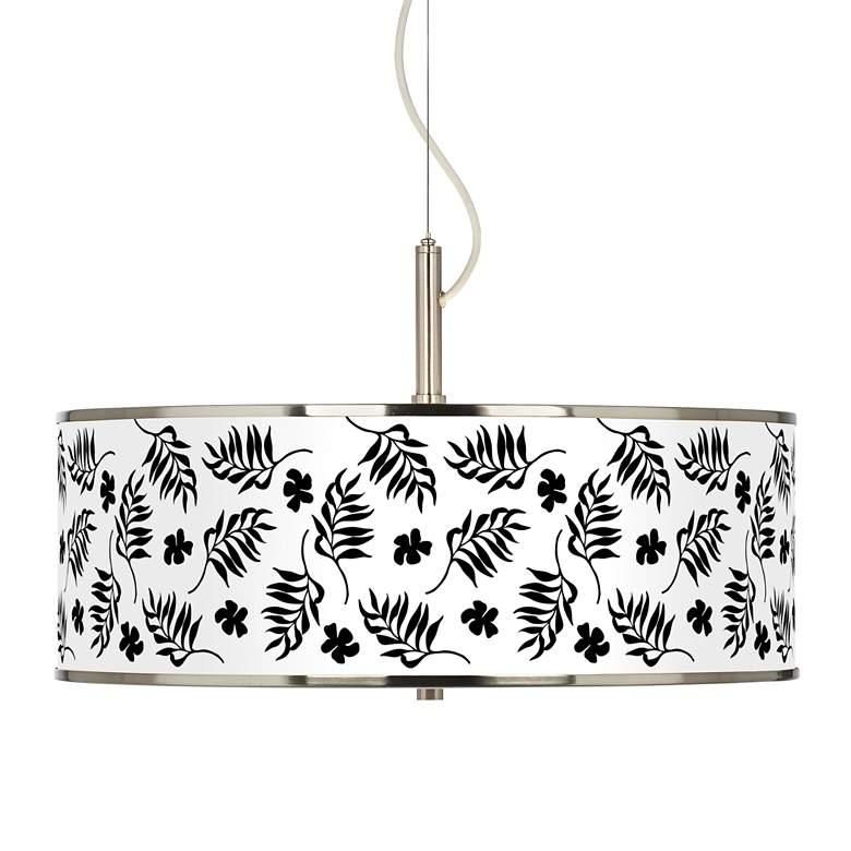 "Floral Fern Giclee Glow 20"" Wide Pendant Light"