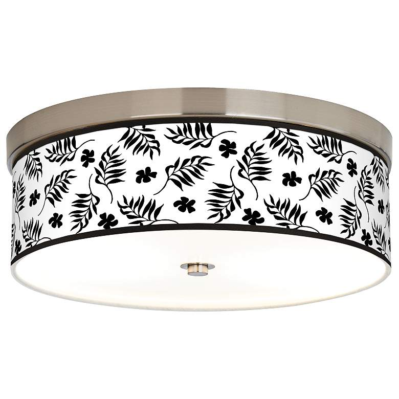Floral Fern Giclee Energy Efficient Ceiling Light