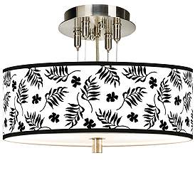 Brushed Nickel Tropical Close To Ceiling Lights Lamps Plus