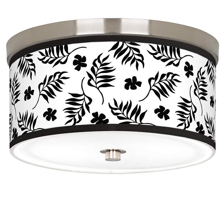 "Floral Fern Giclee Nickel 10 1/4"" Wide Ceiling"