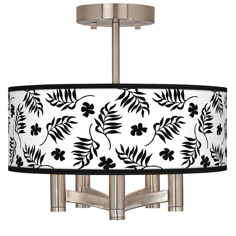 Floral Fern Ava 5-Light Nickel Ceiling Light
