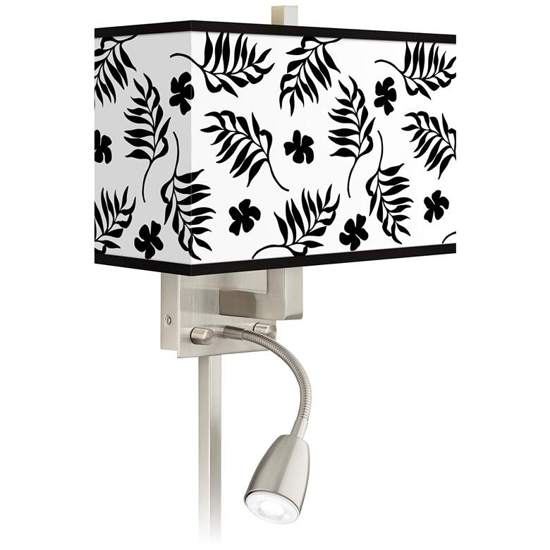Floral Fern Giclee Glow LED Reading Light Plug-In Sconce