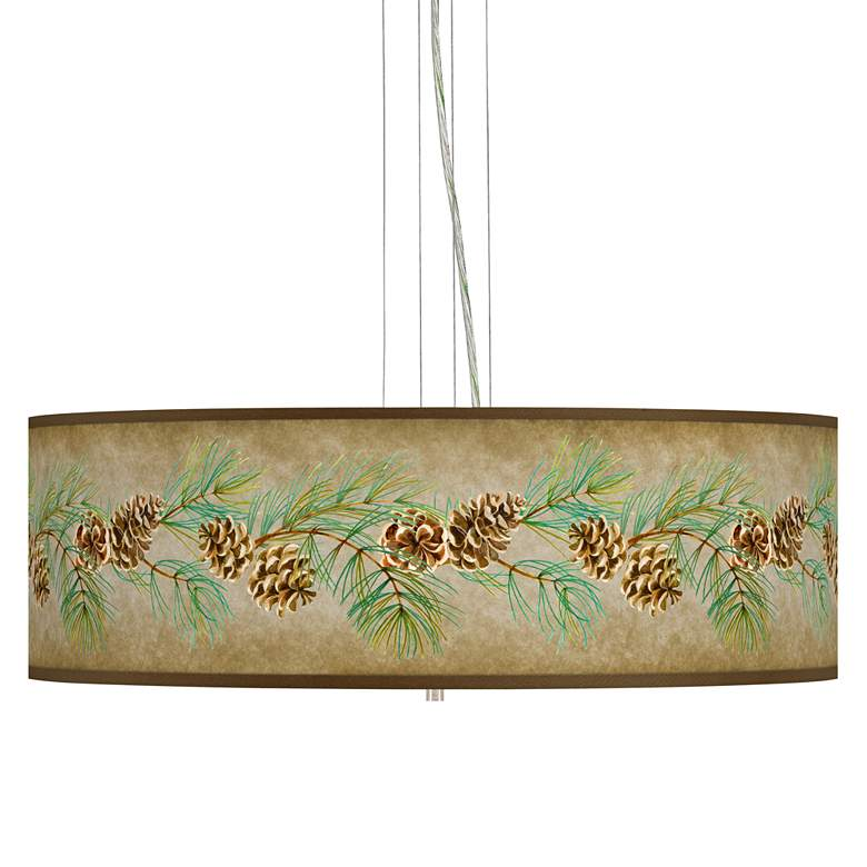 """Cone Branch Giclee 24"""" Wide 4-Light Pendant Chandelier"""