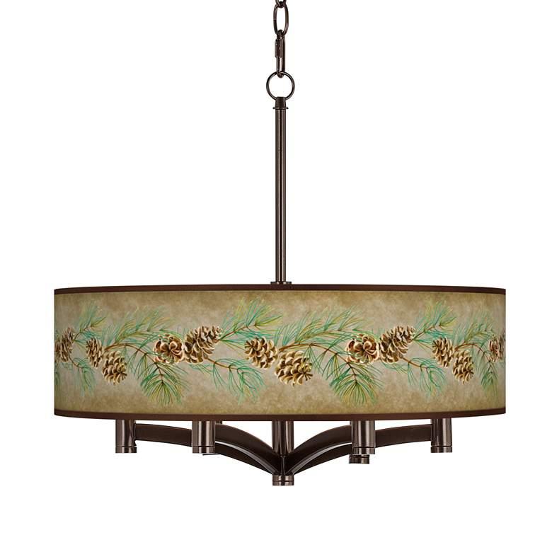 Cone Branch Ava 6-Light Bronze Pendant Chandelier