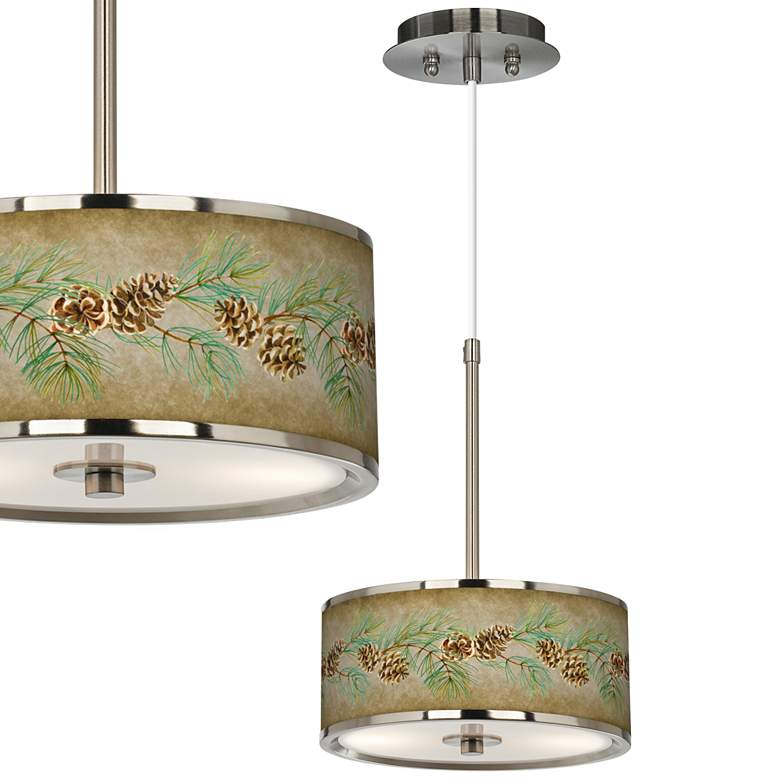 "Cone Branch Giclee Glow 10 1/4"" Wide Pendant Light"