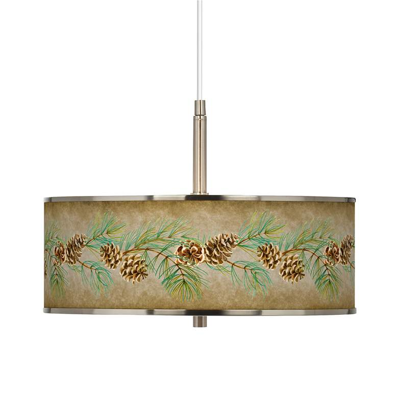 """Cone Branch Giclee Glow 16"""" Wide Pendant Light"""