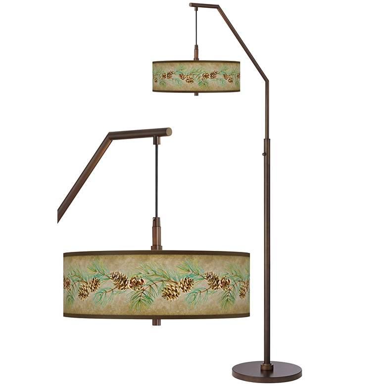 Cone Branch Bronze Downbridge Arc Floor Lamp