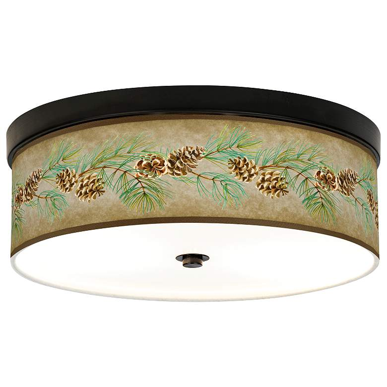 Cone Branch Giclee Energy Efficient Bronze Ceiling Light