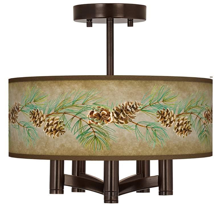 Cone Branch Ava 5-Light Bronze Ceiling Light