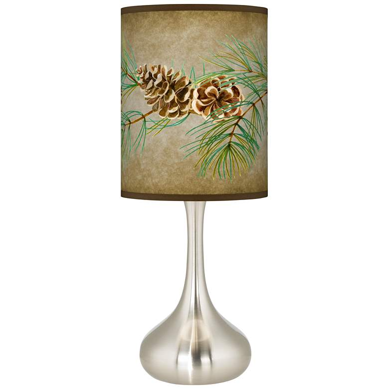 Cone Branch Giclee Droplet Table Lamp