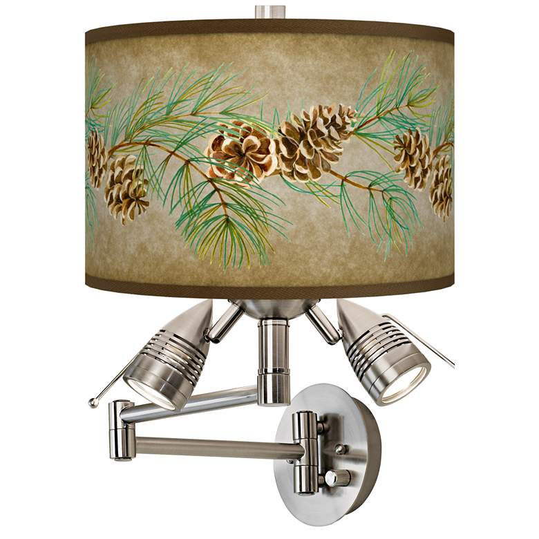 Cone Branch Giclee Swing Arm Wall Lamp