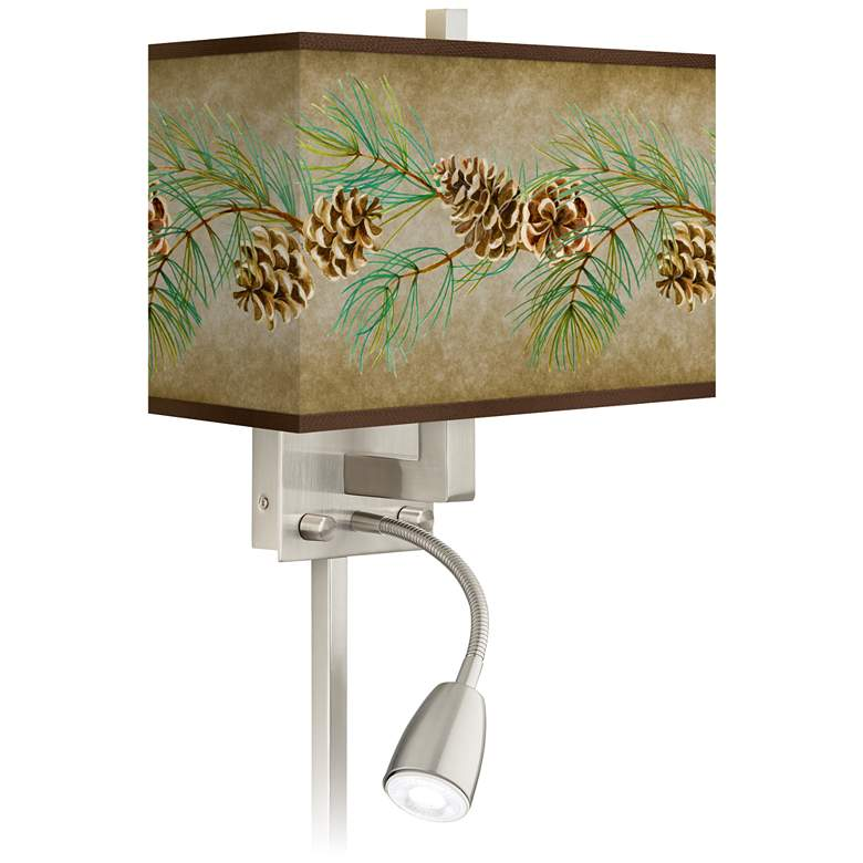 Cone Branch Giclee Glow LED Reading Light Plug-In Sconce