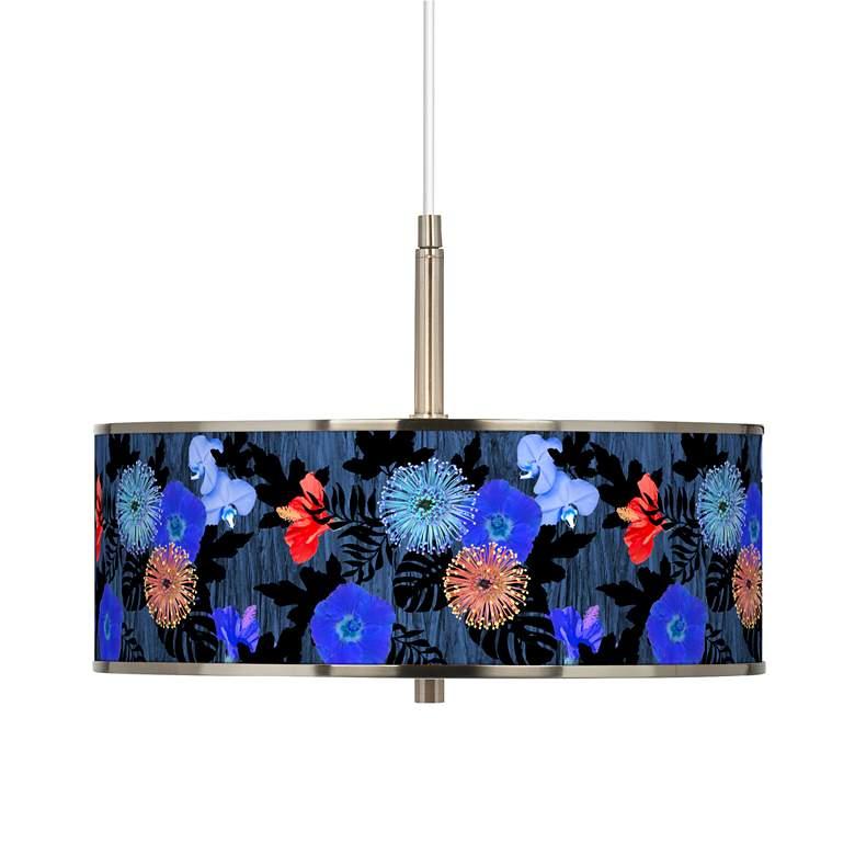 "Midnight Garden Giclee Glow 16"" Wide Pendant Light"