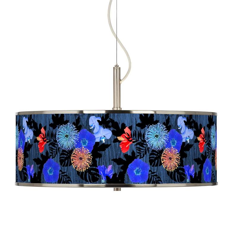 "Midnight Garden Giclee Glow 20"" Wide Pendant Light"