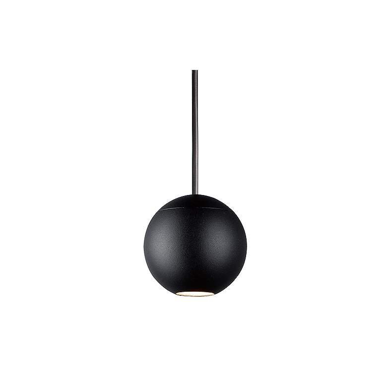 """ET2 Micro 2"""" Wide Black Orb LED Mini Pendant Light"""