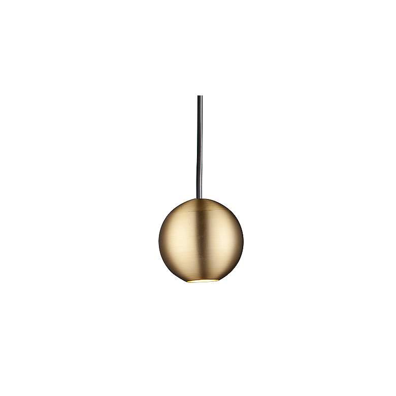 "ET2 Micro 2"" Wide Satin Brass Orb LED Mini Pendant Light"