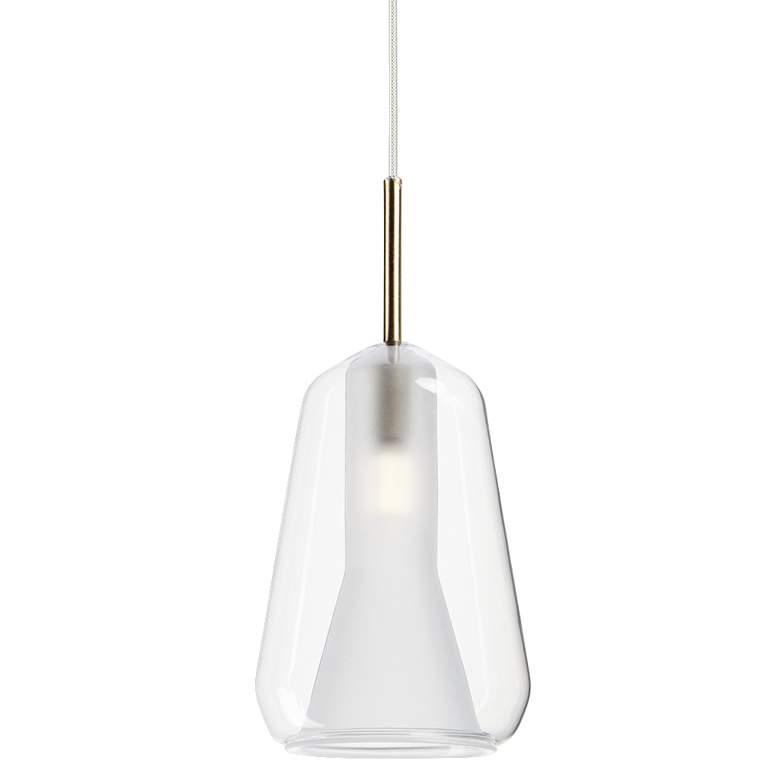 "ET2 Deuce 5 1/2"" Wide Clear Glass LED Mini Pendant Light"