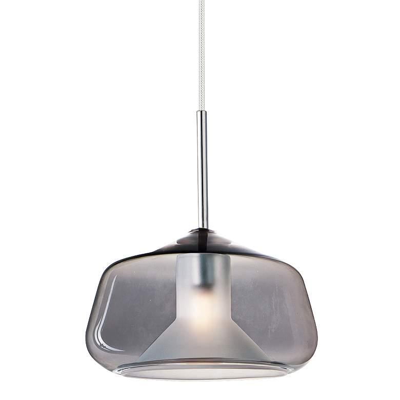 """ET2 Deuce 7 3/4"""" Wide Smoke Glass LED Mini Pendant Light"""