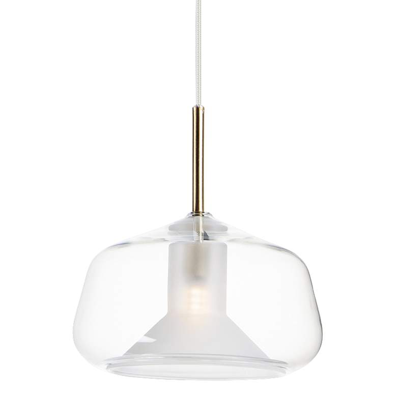 "ET2 Deuce 7 3/4"" Wide Clear Glass LED Mini Pendant Light"