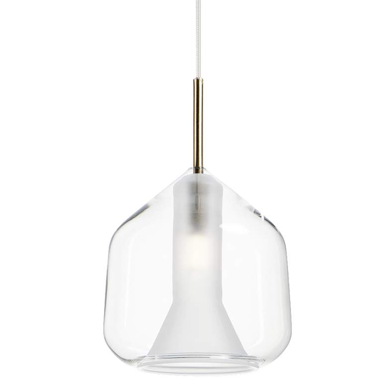 "ET2 Deuce 6 3/4"" Wide Clear Glass LED Mini Pendant Light"