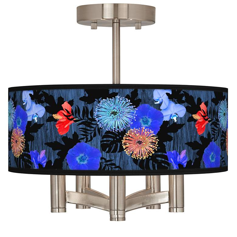 Midnight Garden Ava 5-Light Nickel Ceiling Light