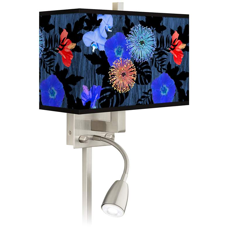 Midnight Garden Giclee Glow LED Reading Light Plug-In Sconce