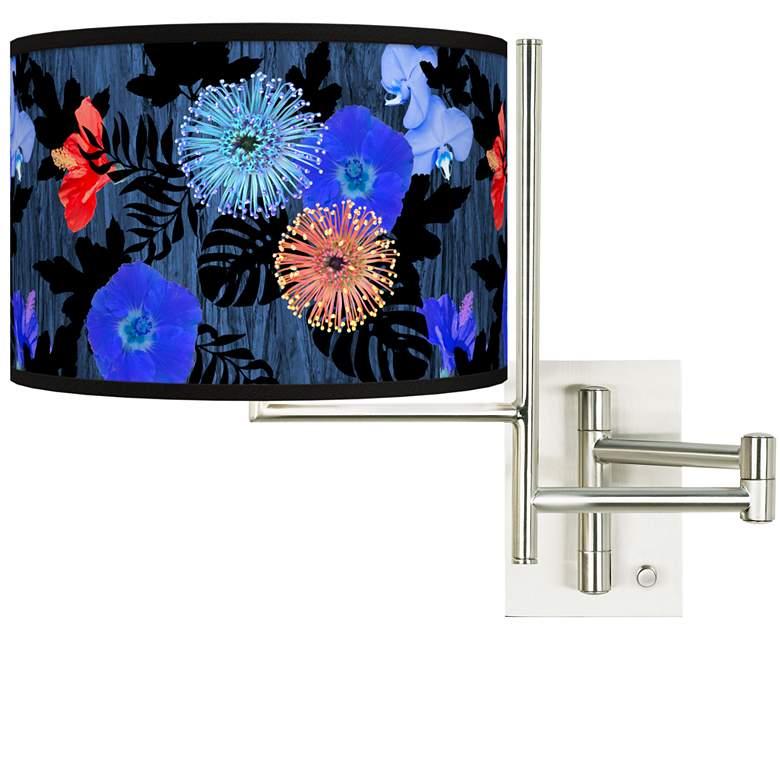 Tempo Midnight Garden Plug-in Swing Arm Wall Lamp