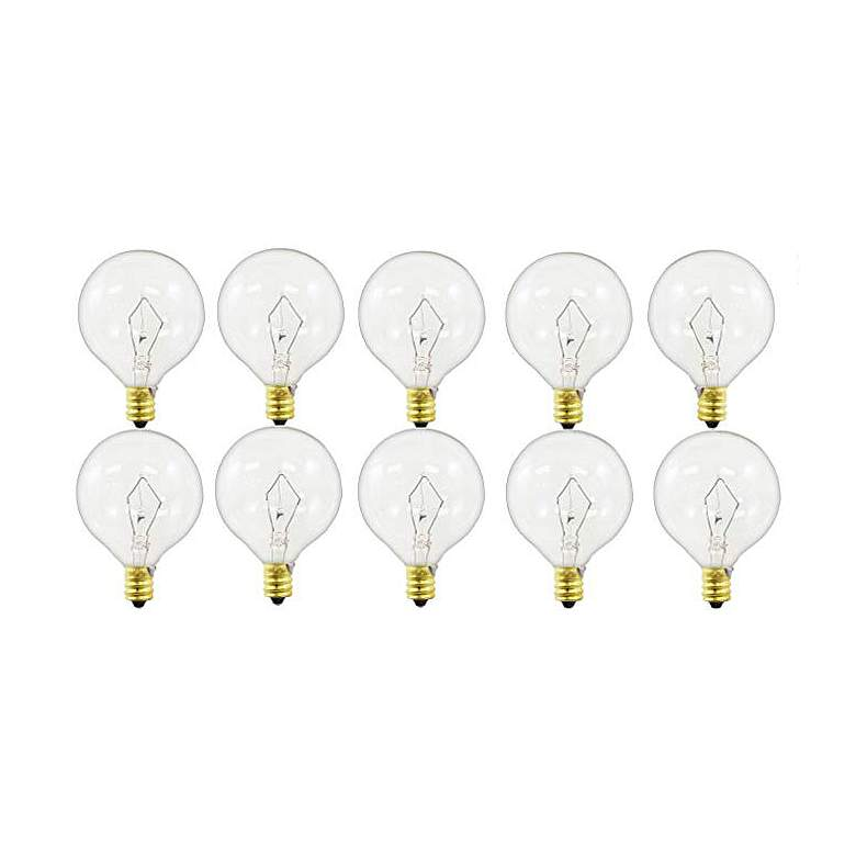 Tesler Clear 40 Watt Candelabra Globe Bulb Pack of 10